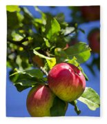 Apples On Tree Fleece Blanket
