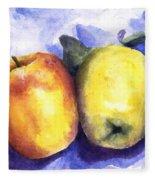 Apples Paired Fleece Blanket