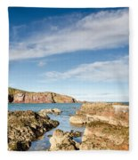 Approach To St Abbs Harbour Fleece Blanket