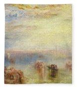 Approach To Venice Fleece Blanket