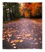 Approaching Autumn Fleece Blanket
