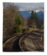 Approaching Grants Pass 1 Fleece Blanket