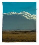 Grassland Approaching Humphreys Peak Fleece Blanket
