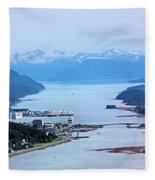 Approaching Juneau Fleece Blanket