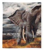 Approaching Menace Fleece Blanket
