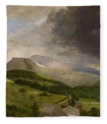 Approaching Storm  White Mountains Fleece Blanket