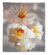 Apricot Blooms Fleece Blanket