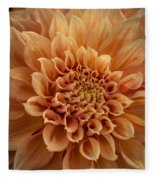 Apricot Dahlia Fleece Blanket