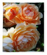 Apricot Dahlias Fleece Blanket