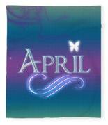 April Name Art Fleece Blanket