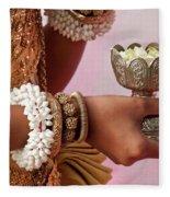Apsara Dancer 01 Fleece Blanket