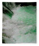 Aqua Falls Fleece Blanket