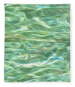 Aqua Green Water Art 2 Fleece Blanket