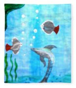 Aqua Life Fleece Blanket