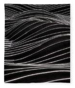 Aqua Waves Fleece Blanket