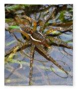 Aquatic Hunting Spider Fleece Blanket