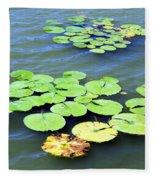 Aquatic Plants Fleece Blanket