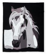 Arabian Horse With Hidden Picture Fleece Blanket
