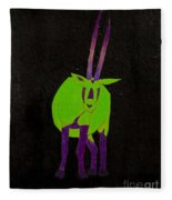 Arabian Oryx Fleece Blanket