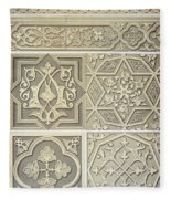 Arabic Tile Designs  Fleece Blanket