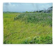 Aransas Nwr Coastal Grasses Fleece Blanket