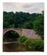 Arch Bridge Across Casselman River Fleece Blanket