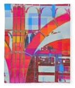 Arch Five  - Architecture Of New York City Fleece Blanket