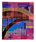 Arch One - Architecture Of New York City Fleece Blanket