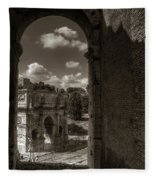 Arch Of Constantine From The Colosseum Fleece Blanket