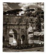 Arch Of Contantine Fleece Blanket