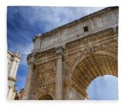 Arch Of Septimius Severus Fleece Blanket