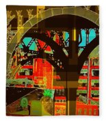 Arch Two - Architecture Of New York City Fleece Blanket