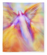 Archangel Uriel In Flight Fleece Blanket