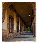 Arched Corridor Fleece Blanket
