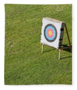 Archery Round Target On A Stand Fleece Blanket