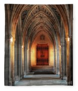 Arches At Duke Chapel Fleece Blanket