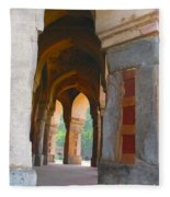 Arches At Red Fort Fleece Blanket