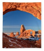 Arches Window Frame Fleece Blanket