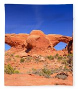 Arches Windows Fleece Blanket