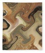 Architechtonic Analysis Of Cortex Detail Fleece Blanket