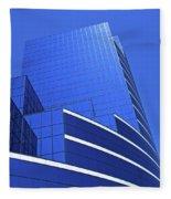 Architectural Blues Fleece Blanket