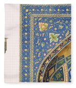 Architectural Details From The Mesdjid I Shah Fleece Blanket