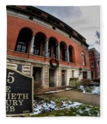 Architecture And Places In The Q.c. Series 01 The Twentieth Century Club Fleece Blanket