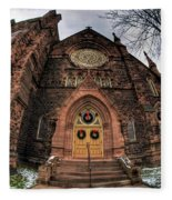 Architecture And Places In The Q.c. Series 01 Trinity Episcopal Church Fleece Blanket