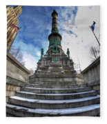 Architecture And Places In The Q.c. Series  Soldiers And Sailors Monument In Lafayette Square Fleece Blanket