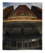 Architecture And Places In The Q.c. Series The Statler Towers Fleece Blanket