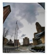 Architecture And Places In The Q.c. Series War Of Architecture  Fleece Blanket