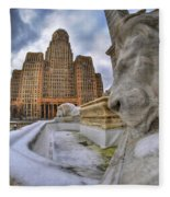 Architecture And Places In The Q.c. Series When The Lions Rest Fleece Blanket