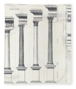 Architecture I Orders Of Architecture Engraved By Charles Lawrie Fleece Blanket