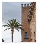 Architecture In Old Palma. Fleece Blanket
